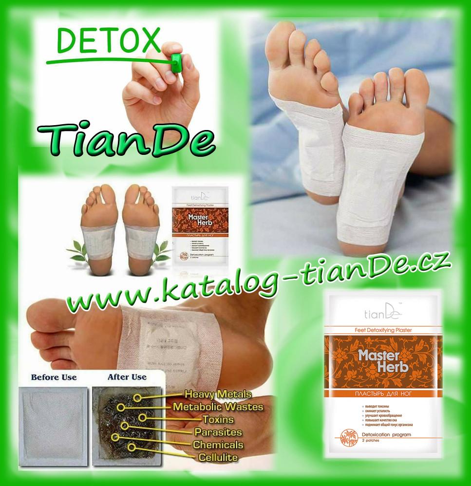 Detoxikace tianDe, detoxikační náplast tianDe