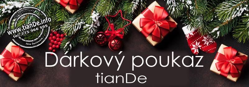 Vánoční dárek tianDe, dárkový poukaz tianDe