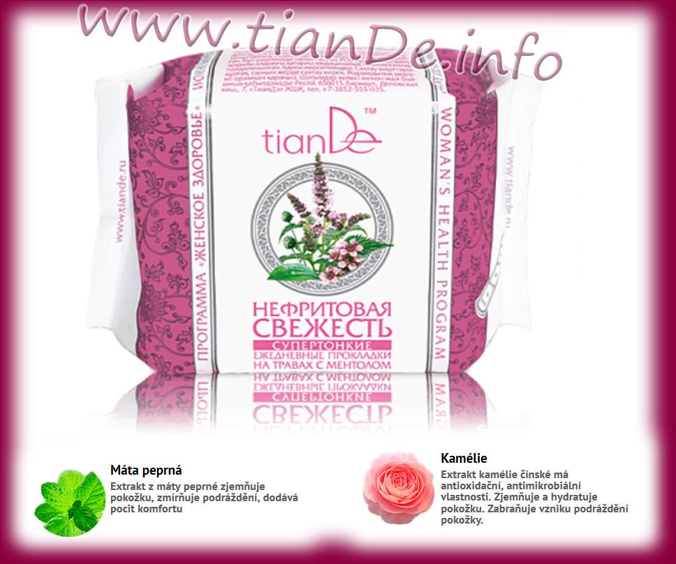 Denni super tenké vložky s použitím bylin a mentolem Nefritová svěžest TianDe