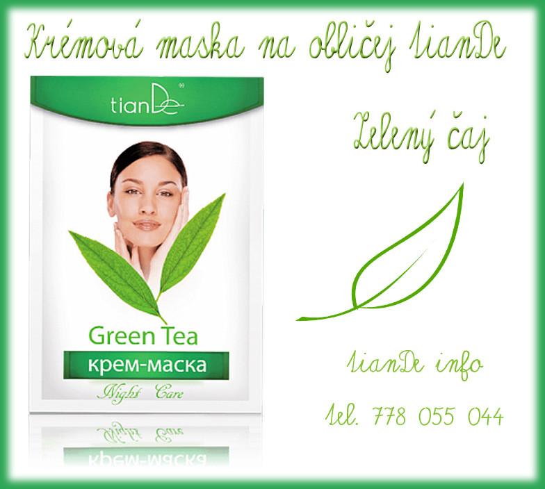 Krémová maska na obličej Zelený čaj TianDe