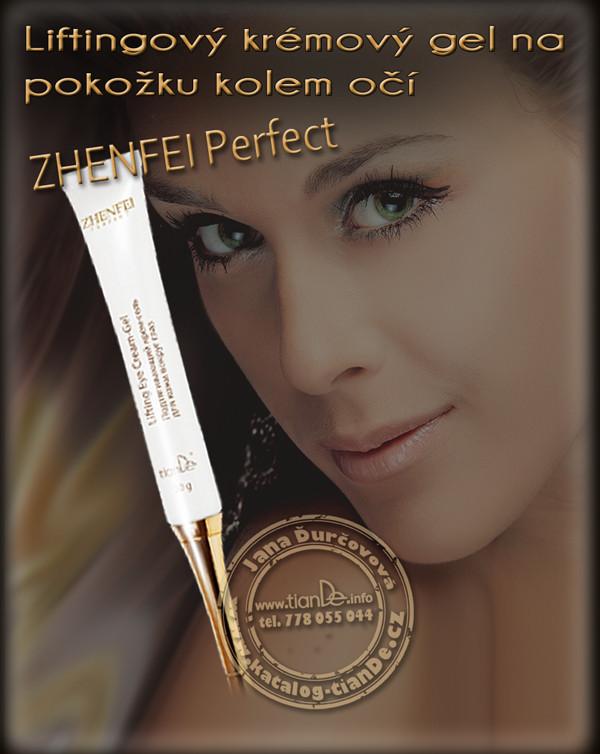 Liftingový krémový gel na pokožku kolem očí Zhenfei Perfect tianDe