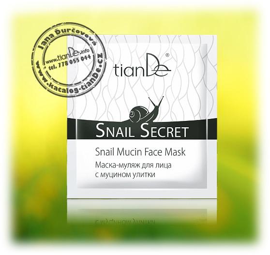 Maska na obličej s mucinem hlemýžďů tianDe