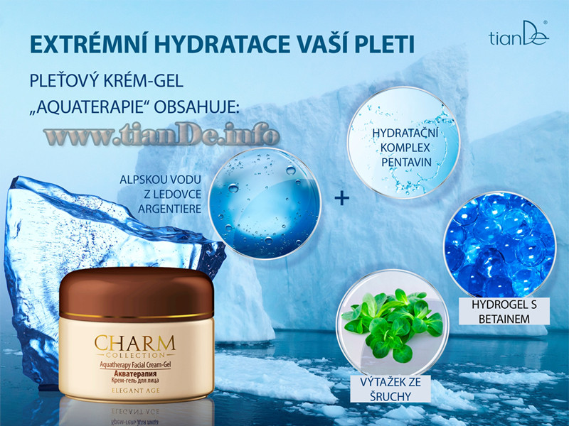 Pleťový krém - gel Aquaterapie Charm Collection tianDe