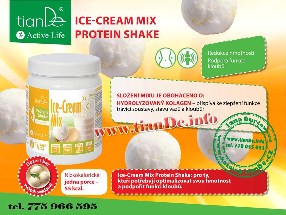 Zmrzlinový protein koktejl mix se sladidlem tianDe