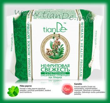 Super tenké denní vložky s použitím bylin Nefritová svěžest TianDe