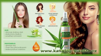 Stylingový sprej na vlasy s Aloe Objem a pružnost TianDe