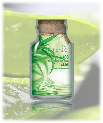 Hydratační krémová maska Aloe TianDe