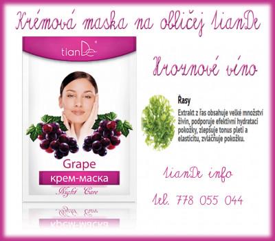 Krémová maska na obličej Hroznové víno tianDe