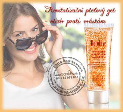 Revitalizační pleťový gel-elixír proti vráskám Botoluxe TianDe