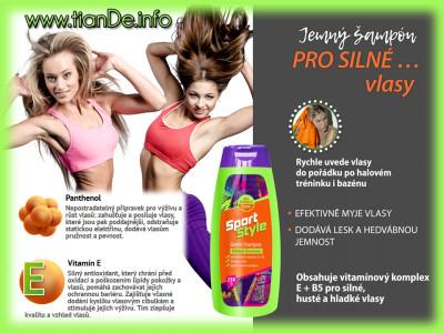 Jemný šampon Sport Style tianDe