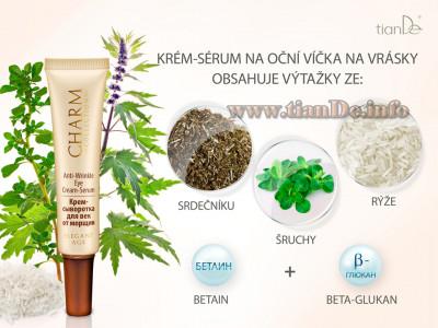 Krém - sérum na oční víčka a vrásky Charm Collection tianDe