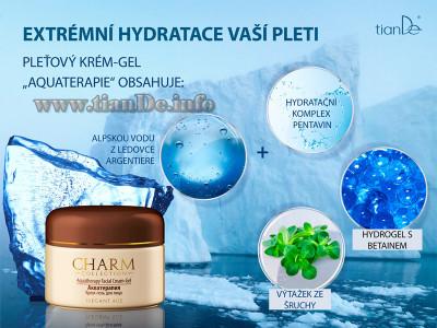 Pleťový krém - gel Aquaterapie Charm Collection tianDe