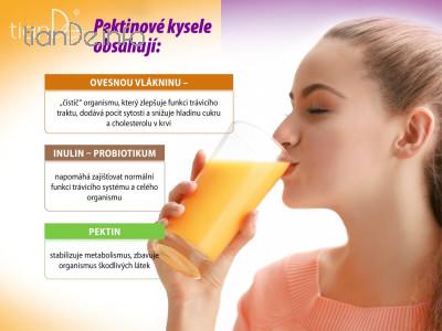 Pektinový kysel s rakytníkem a jablkem tianDe