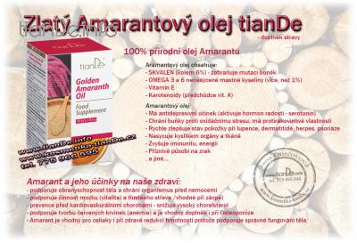 Funkční komplex Zlatý amarantový olej tianDe